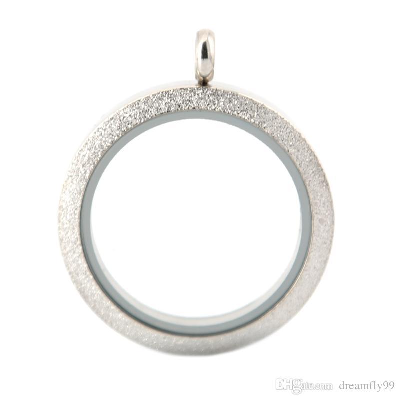 2016 venda Quente 30mm parafuso MATT memória de aço inoxidável de vidro medalhão de vidro pingente, medalhão de vidro encantos flutuantes para as Mulheres