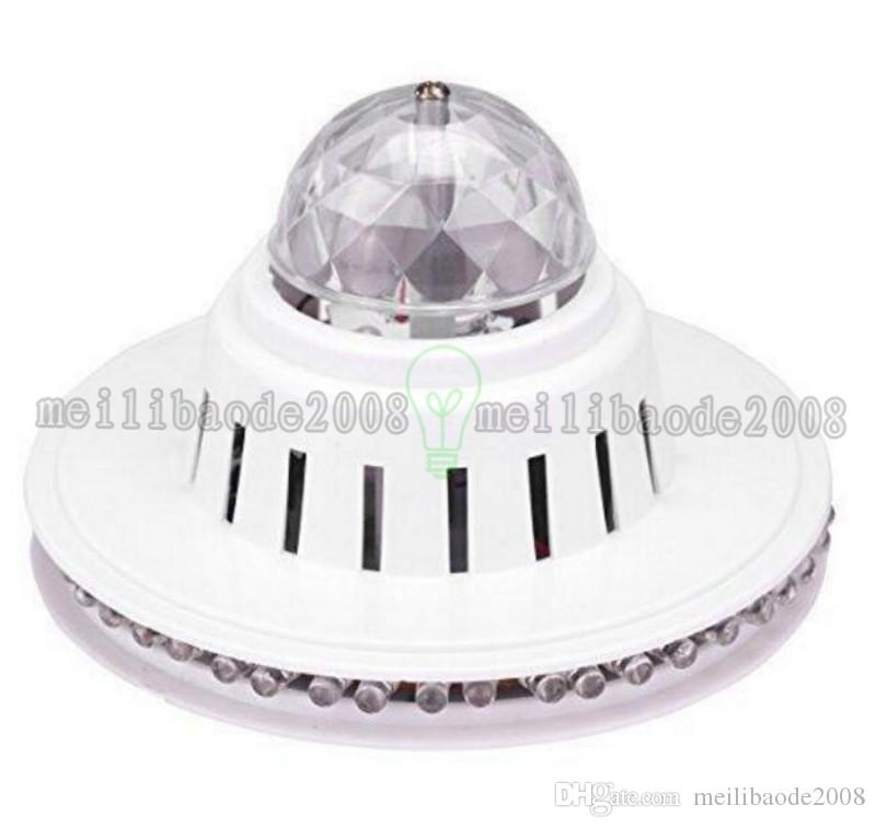 48LEDs 8W Rotating RGB LED Bulb Ball Color Changing Crystal Magic Sunflower Light RGB Stage Light Led Effects for Xmas Party MYY