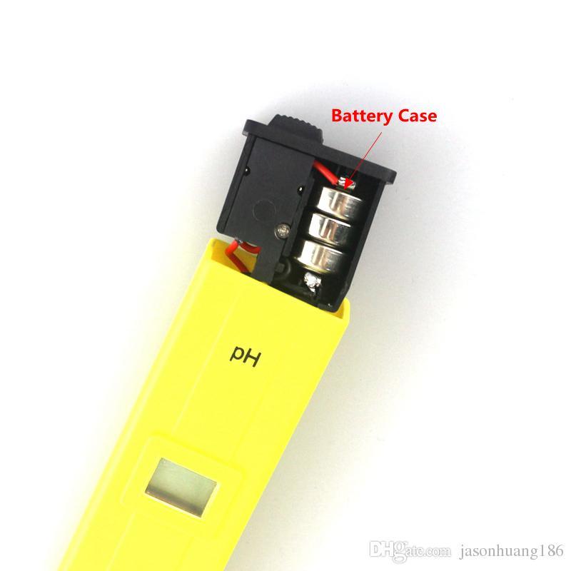 Digital PH Meter Water Tester Pen 0-14 PH High Accuract for Aquarium Soil Food Lab PH Monitor ATC Portable