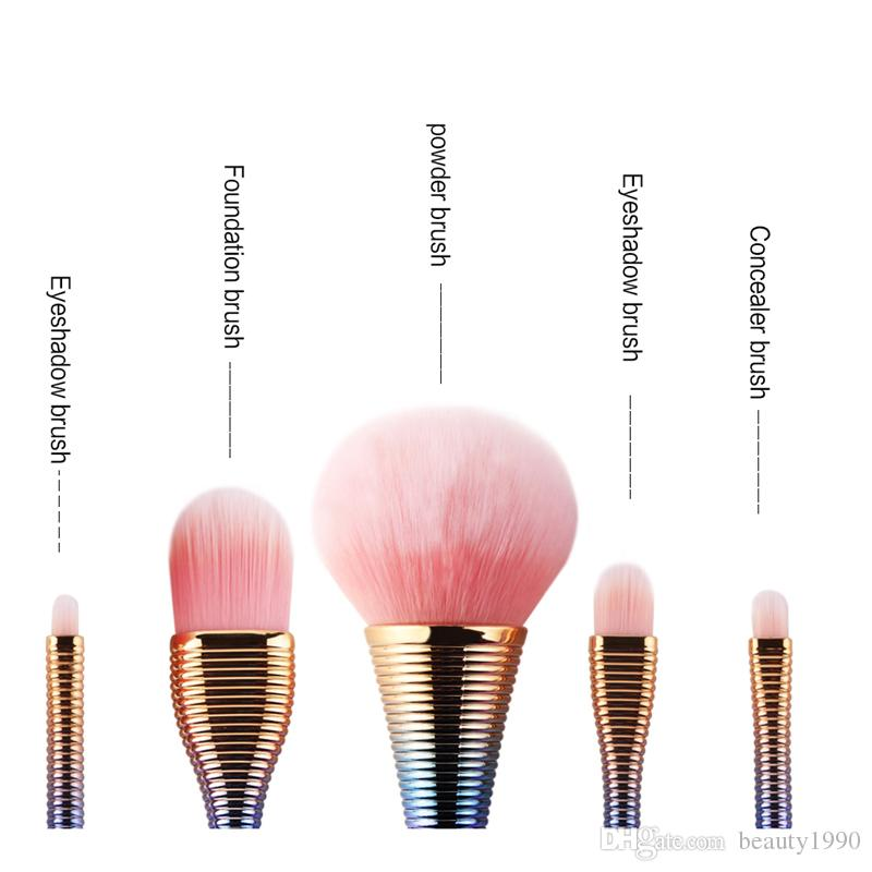 Makeup Brushes Powder Small Wait Lollipop Handle Design Foundation Powder Eyeshadow Concealer Blending Make Up Brush Cosmetic Tools