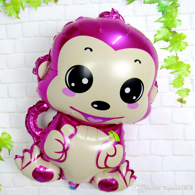 73*53cm monkey foil balloon children's toys aluminum balloons birthday party balloon monkey cartoon animal film wholesale
