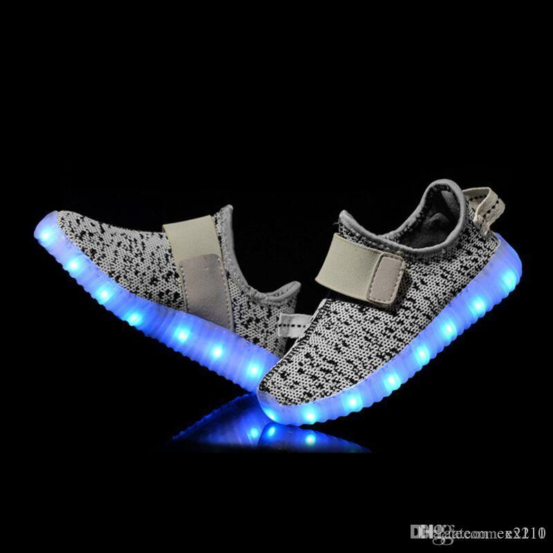 Ex211 LED Light Up Shoes Fashion Sneaker For Men Women Kids Child Boy Girls  Slip On With Modes DHL 1 Indoor Soccer Shoes Oxford Shoes From Ex2110 ae5c08597c