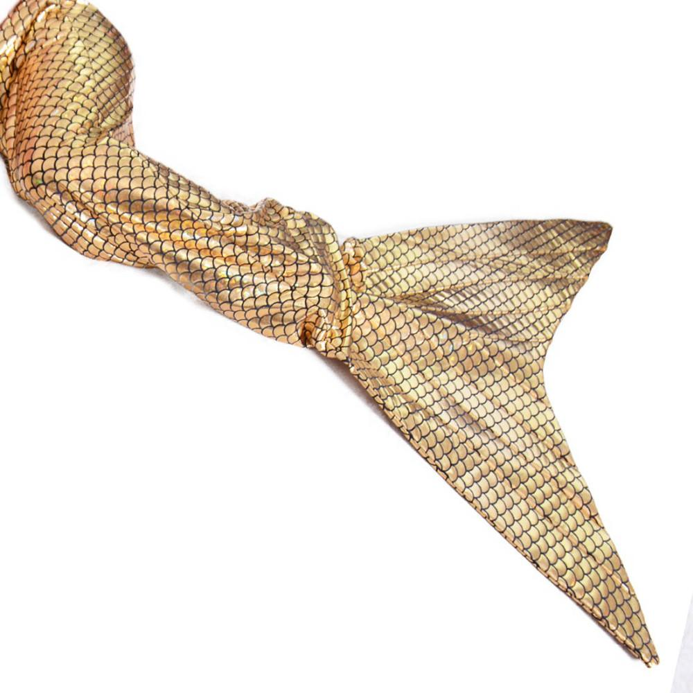 Gold Fish Scales Mermaid Tails for Girls Children Halloween Costumes for Kids Summer Party Cosplay Fancy Dress Wholesale
