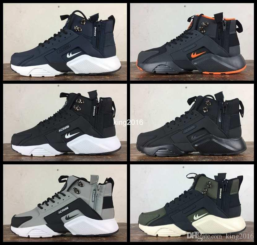 36061d7c633b 2017 New Arrival Air Huarache 6 X Acronym City Mid Leather Running Shoes  For Men High Quality Huaraches Mens Huraches Sports Sneakers 40 45 Mens  Trail ...