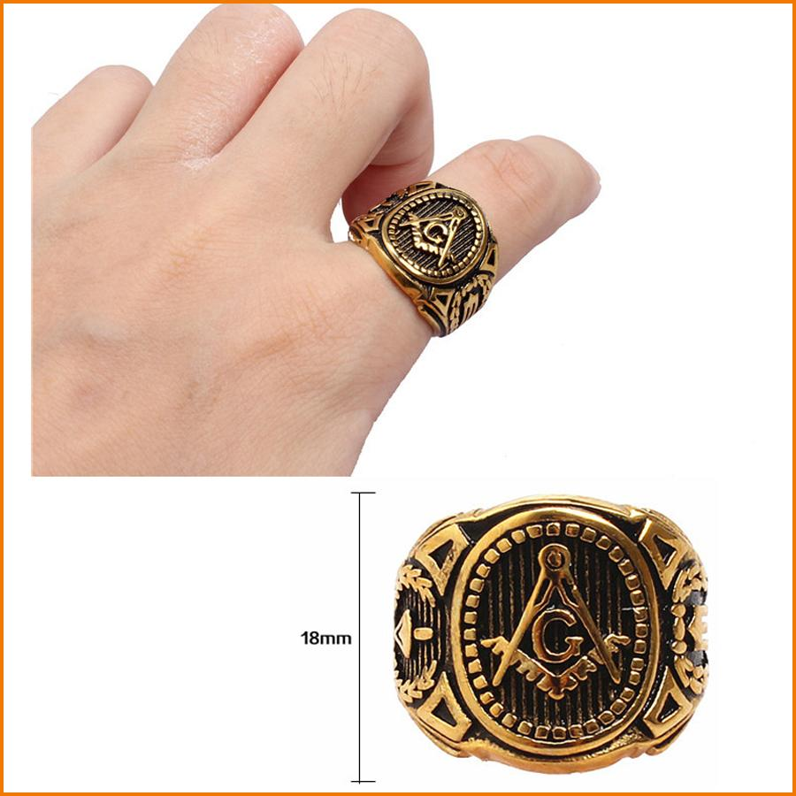 Mason Signet Ring - Stainless Steel Freemason Ring / Masonic Rings   Freemason s Jewelry for Free Masonry Member  Free Masons Ring