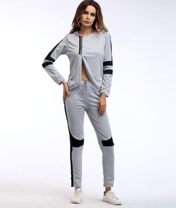 2017, Europe and America hot new long sleeved ladies CAP, spring and autumn sports clothes, fashion leisure suit