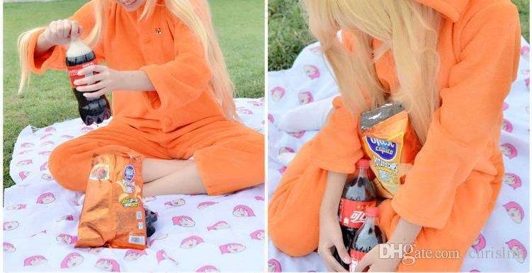 New Arrivals Japanese Anime cosplay Doma Umaru costume Himouto! Umaru-chan Cosplay jumpsuits for Adults Orange Color