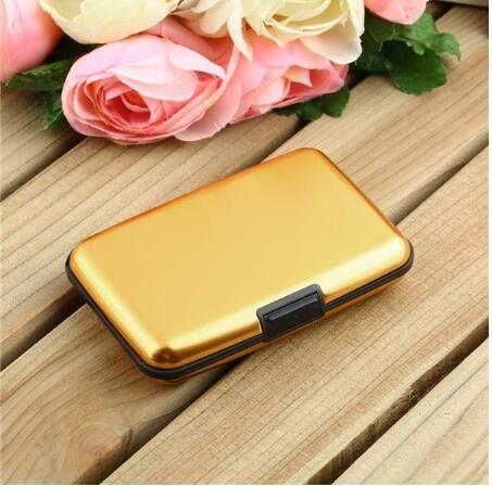 Waterproof Business ID Credit Card Wallet Holder Aluminum Metal Case Box Multiple Colors 2015 Hot Luxury Useful