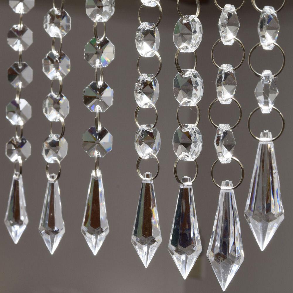 Strands Acrylic Crystal Garland Chandelier Hanging Bead Chains - Chandelier acrylic crystals