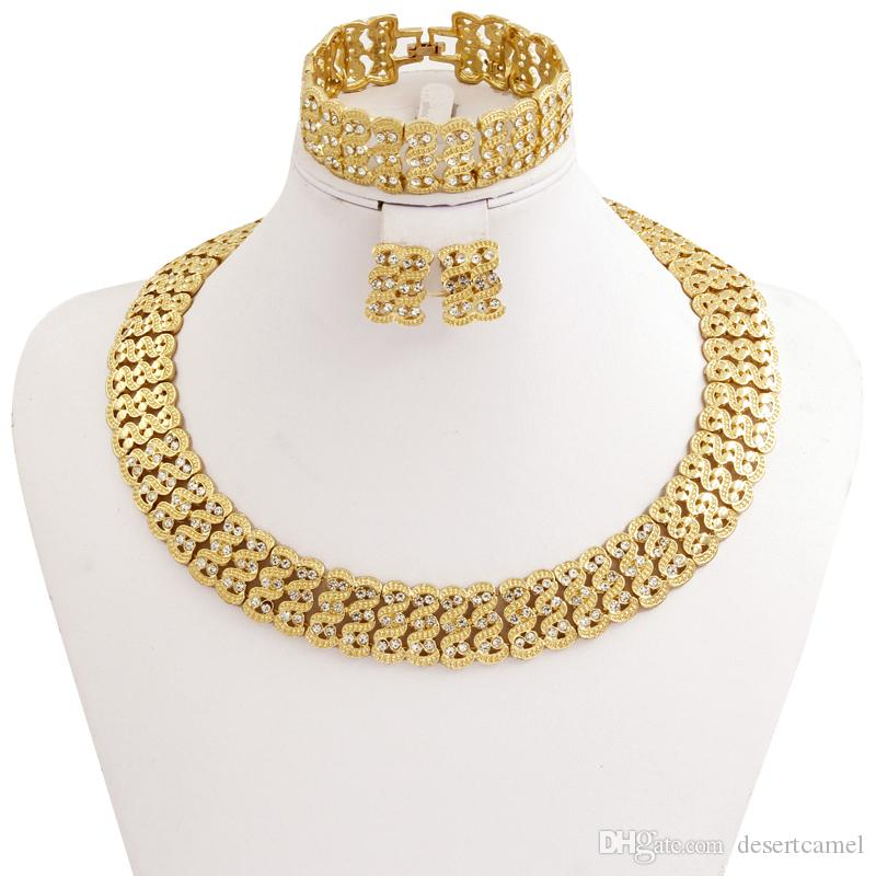 2017 Indian Jewelry Dubai Gold Jewelry Ms. Fashion Necklace ...