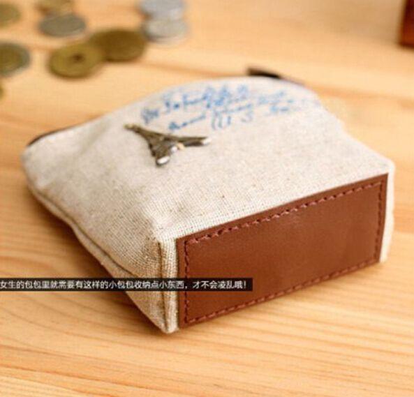 2017 novo saco de lona das Mulheres Coin keychain chaves carteira bolsa titular do bolso de mudança organizar cosméticos Maquiagem Sorter 13090
