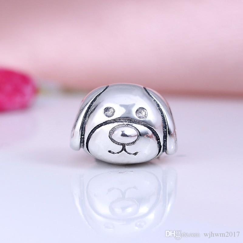 New Devoted Dog Charms Bead Authentic 925 Sterling Silver Vintage Animal Beads For Jewelry Making DIY Brand Logo Bracelets Accessories