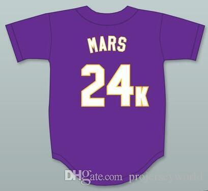 2019 Bruno Mars 24K Hooligans Mens Womens Youth Purple Baseball Jersey BET  Awards Baseball Jerseys All Stitched From Projerseyworld 52287af919