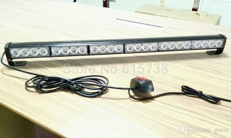 La puissance élevée 24 LED Strobe Pompier Pompier Clignotant Avertissement d'Urgence Police Camion De Voiture Flash Feu led guide optique 12v dc