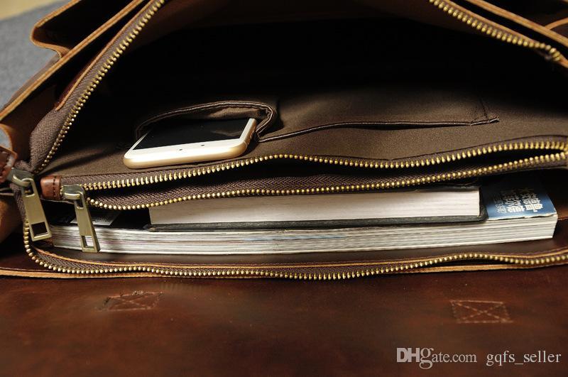 2016 borsa del progettista di marca borse in vera pelle vintage borse a tracolla messenger gli uomini portatili borsa borse da lavoro uomini borsa a tracolla affari s