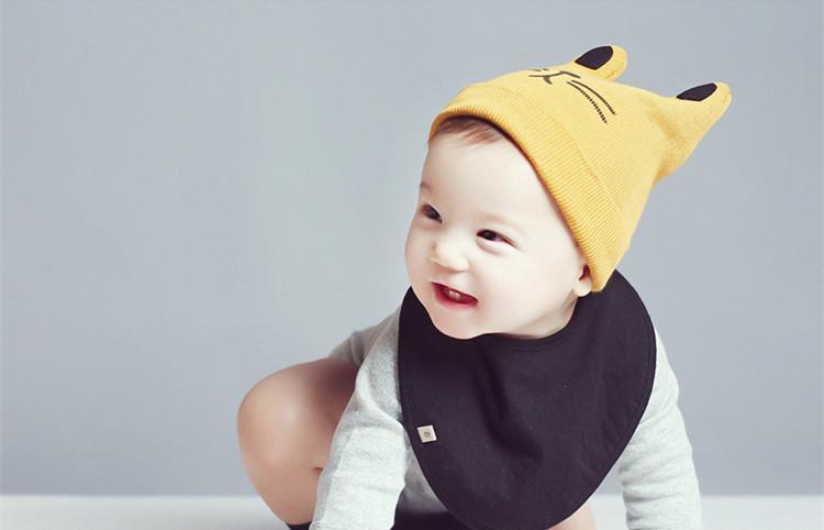 Baby Hat Character Cute Toddler Boy Girl Knitted Crochet Cat Ear Beanie Winter Warm Hat Cap Bonnet Infant