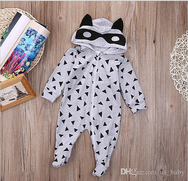 0-1T Unisex Newborn Long Sleeve Romper Baby Boy Girl INS animal print Rompers Clothing Cute Jumpsuits Size70-100