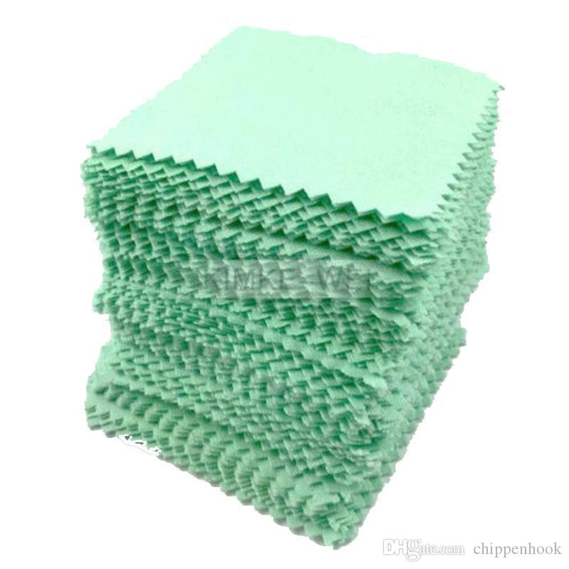 Free Shipping 50Pcs Fashion Bulk Price Green Silver Polishing Cloth Sterling 925 Silver Jewelry Cleaner Anti-tarnish