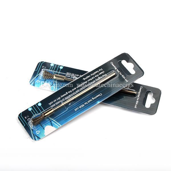 2016 E cigs RDA Zerstäuber Spule Reinigen Werkzeug Edelstahl Mini Reinigungsbürste Wachs Sauber dabber Werkzeug für RDA spule Vape Mod