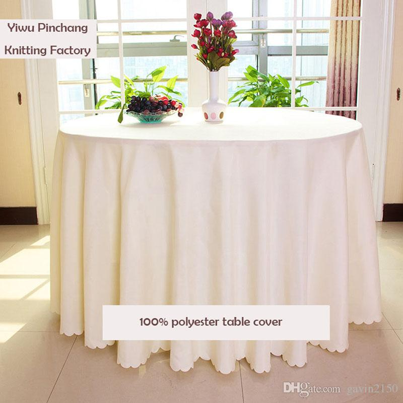 Home Table Cloth 132inch Round Polyester Plain Tablecloth High Quality White  Black Hotel Table Cloth For Wedding Party Cloth Tablecloths Cheap Circle ...