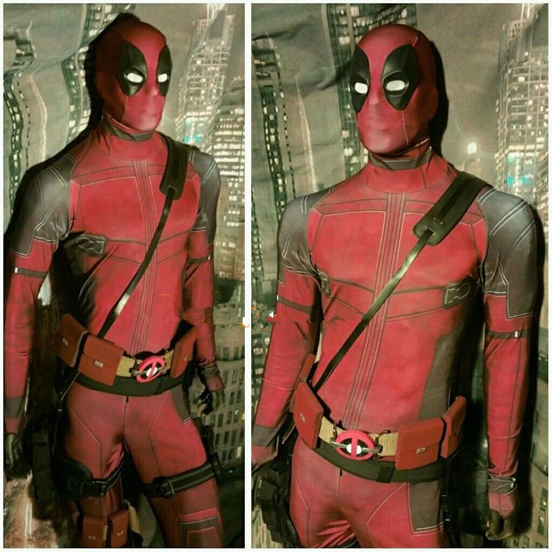 cosplay men adult superhero cosplay deadpool costume halloween costume onesie deadpool cosplay costume for kids