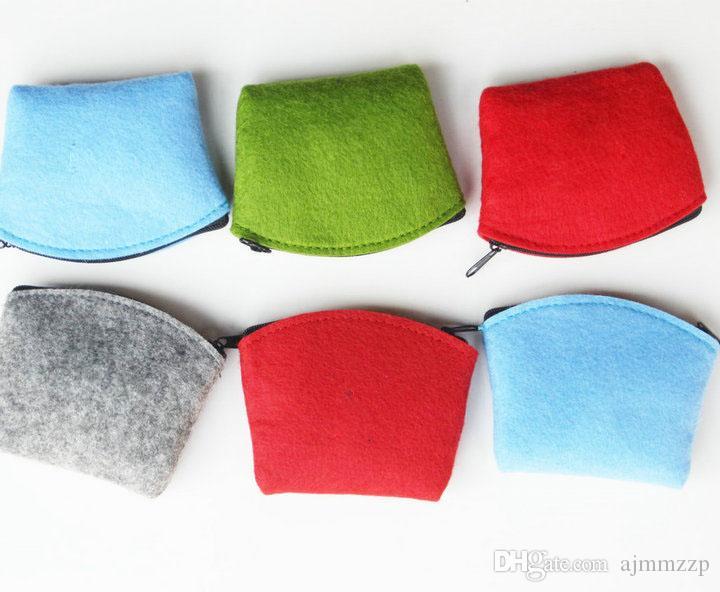 12шт / много моды чувствовала 4 цвета мешка изменений мешка Организатор падение Shippi Может быть настроен