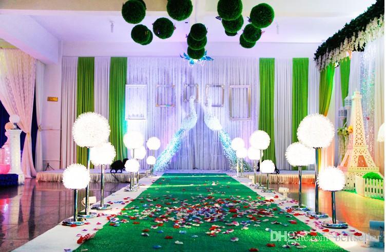 European style LED Light Up Dandelion wedding columns pillars Wedding centerpieces Decoration Photo Booth Props Supplies 40cm 60cm 80cm