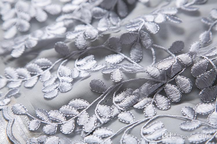Stickerei Luxus Frauen A-Linie Kleid ärmellose Mini Prom Kleider 084A644
