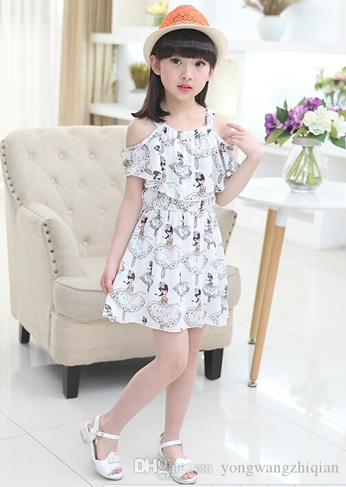 Children's clothes girls 2016 summer wear the new children's wear children's princess dress girl han edition dress veil that snow spins cond