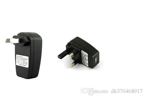 Cargador ecig USB ego t cargador de pared Fuente de alimentación Adaptador de pared ego batería Cargador UE EE. UU. Reino Unido AU estándar para kits de cigarrillos electrónicos