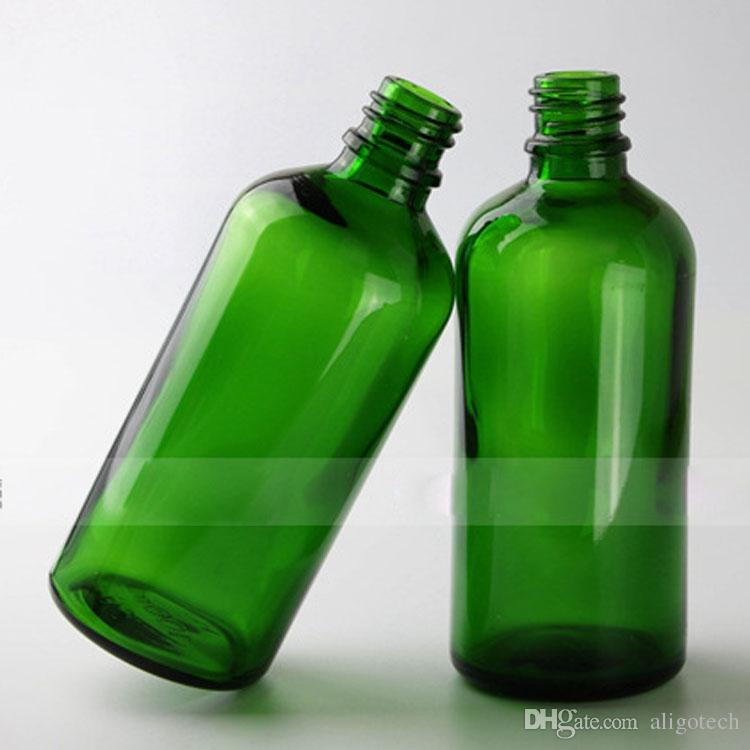 E Liquid E Juice Green Glass Bottles 100ml BIg Glass Bottle 100 ml with Thin Tip BIg Head Lids For Cosmetic Make Up Oil