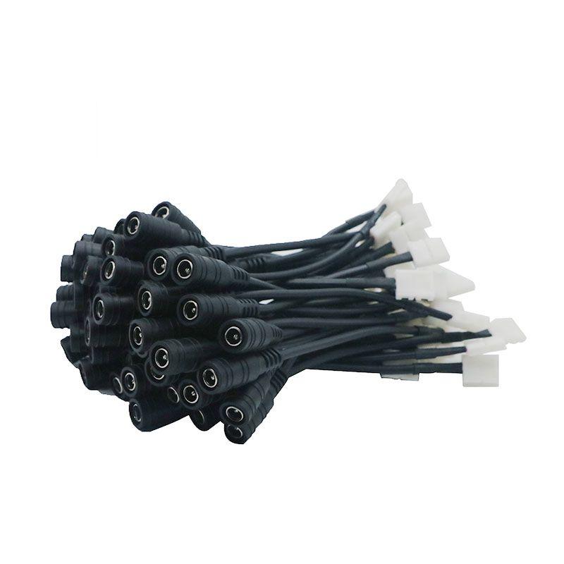 Edison2011 8mm SMD LED 단 하나 색깔 지구 빛 SMD 3528를위한 2pin DC 암 커넥터 케이블