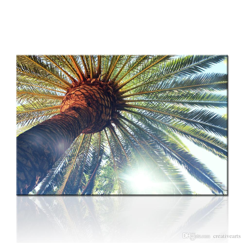 Palm tree in sunshine landscape natural scenery wall picture prints paintings on canvas painting wall pictures for living room decor