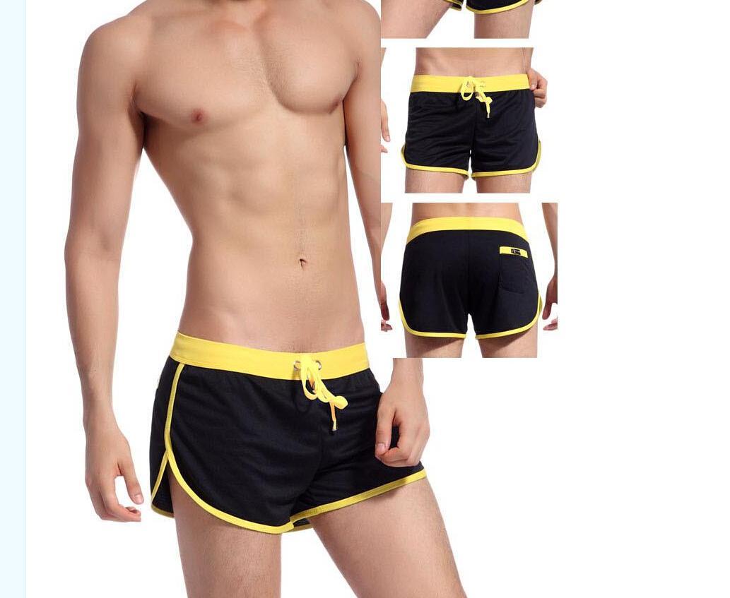 Outono Sexy dos homens Shorts Casuais / Boxer shorts Material de Poliéster Uso Doméstico com G-corda Jocks Correias Dentro Ginásio Troncos De Jogging 3 peças / lote