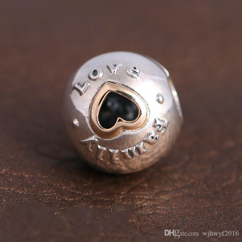 Family Love Heart Clip Charms Bead 925 Sterling-Silver-Jewelry Heart Lock Beads Mothers Day Gifts DIY Brand Bracelets Making Accessories