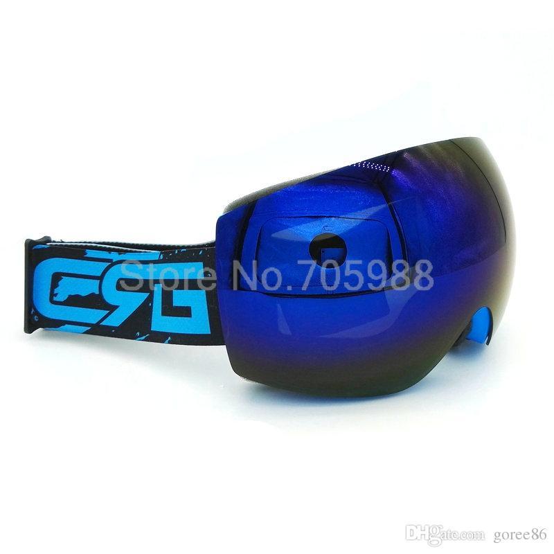 BLUE ski goggles motorcycle goggle uv-protection anti-fog snow skiing glasses snowboard glass
