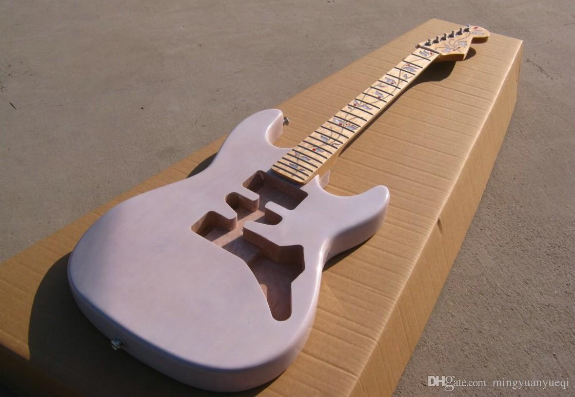 A New Brand Electric Guitar With See Thru White Color St Half