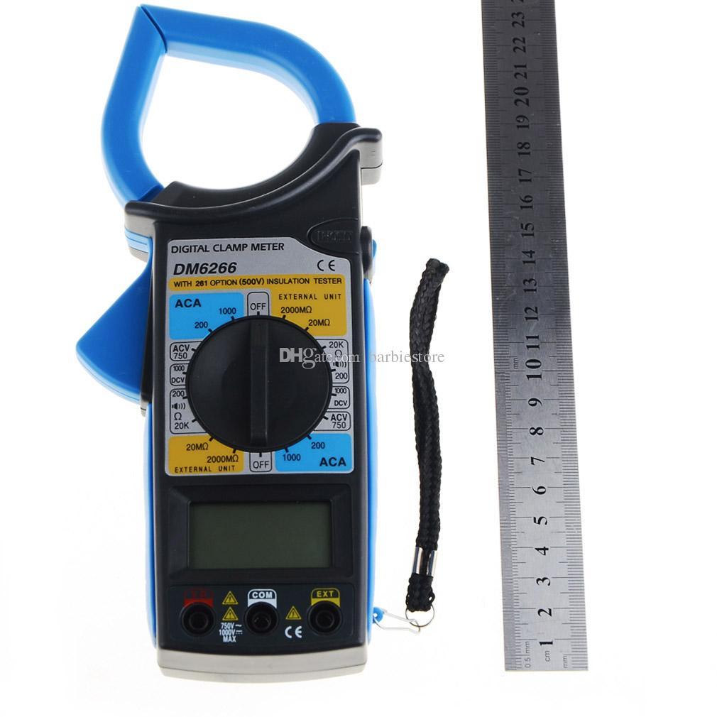 DM6266 Dijital Multimetre Kelepçe Metre AmVolt Ohm Metre Yalıtım Testi B00353