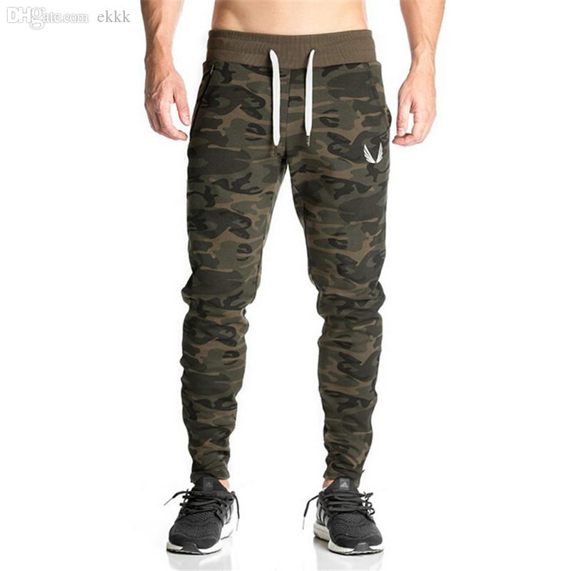a7f8b41ac 2019 Wholesale New Casual Fitted Tracksuit Bottoms Camouflage Gym Pants  Mens Sports Joggers Elastic Sweat Pants Gym Bodybuilding Sweatpants From  Ekkk, ...