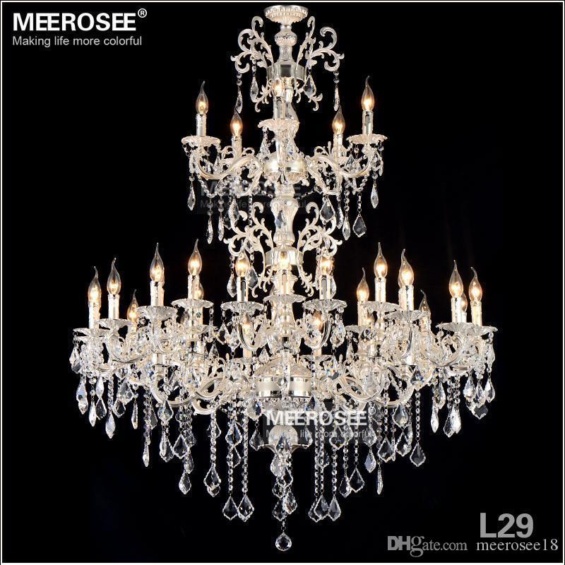 Arms Silver Color Crystal Chandelier Lamp Big Crystal Lustre - Chandelier swarovski crystals wholesale