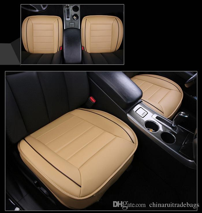 Car Front/back Seat Covers Artifical PU Leather Patchwork Design Universal  Fit SUV Sedans Chair Pad Cushion Antiskid Car Travel Bed Seat Car Seat  Cover ...