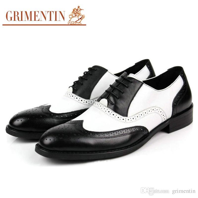 Compre GRIMENTIN Marca Mens Oxford Zapatos De Cuero Genuino Mens Dress  Shoes Venta Caliente Diseñador De Moda Negocio Formal Oficina De La Boda  Zapatos ... 48dee73b3580