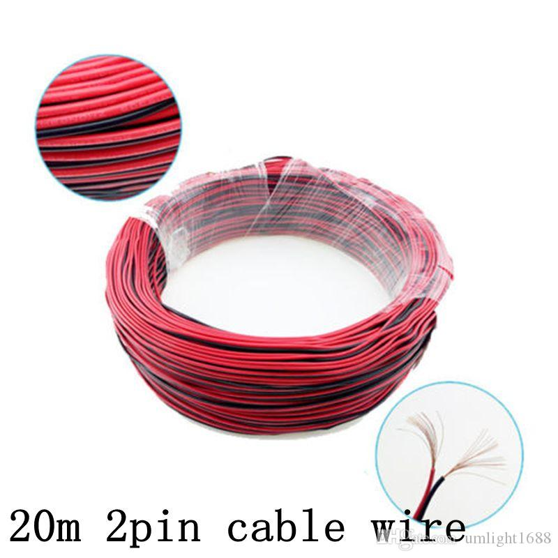 2Pin Led Extension Cable Wire Red Black 12V 24V For Led Strip 3528 5050 5630 5730 2 Pin DC Electronic Cord