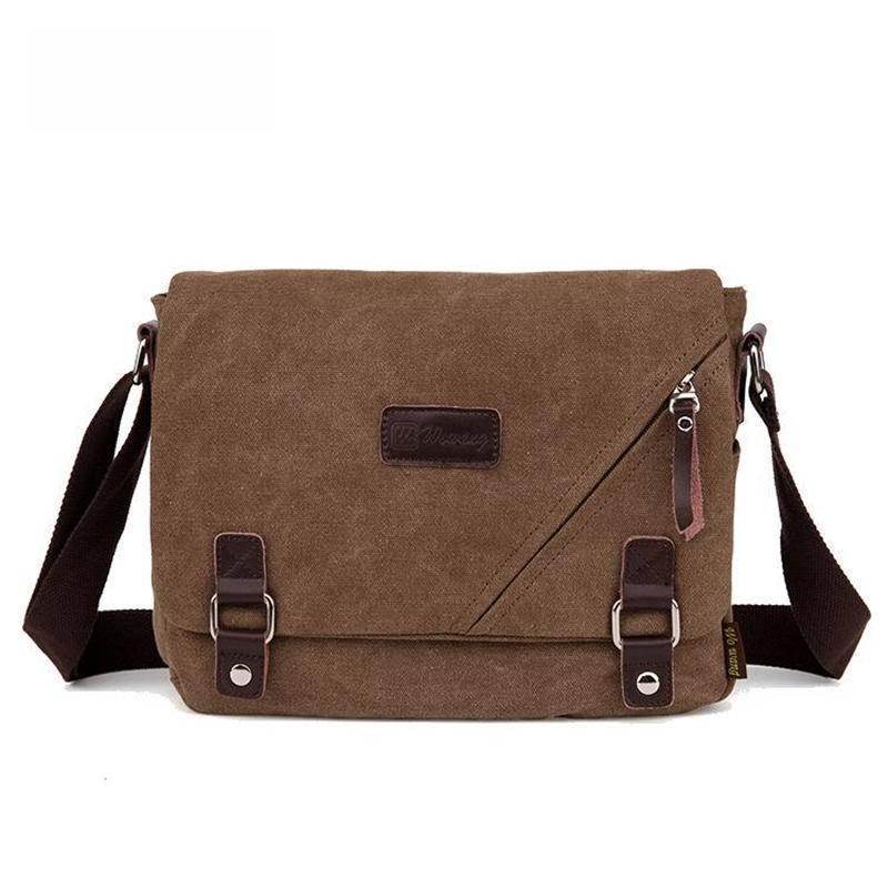 Fashion Canvas Messenger Shoulder Bag Laptop Computer Bag Satchel ...