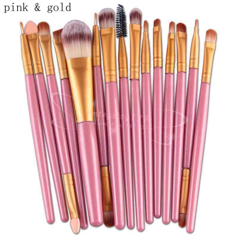 pincéis de maquiagem cosméticos Set Powder Foundation Eyeshadow Eyeliner Lip Brush Ferramenta Marca Make Up Brushes Ferramentas de Beleza Pincel Maquiagem