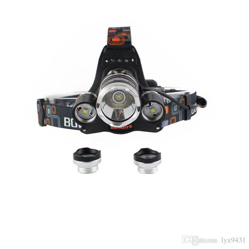Boruit 8000LM 3 x XM-L L2 LED Headlight Headlamp FISHING CAMPING Head Torch Flashlight USB Lamp