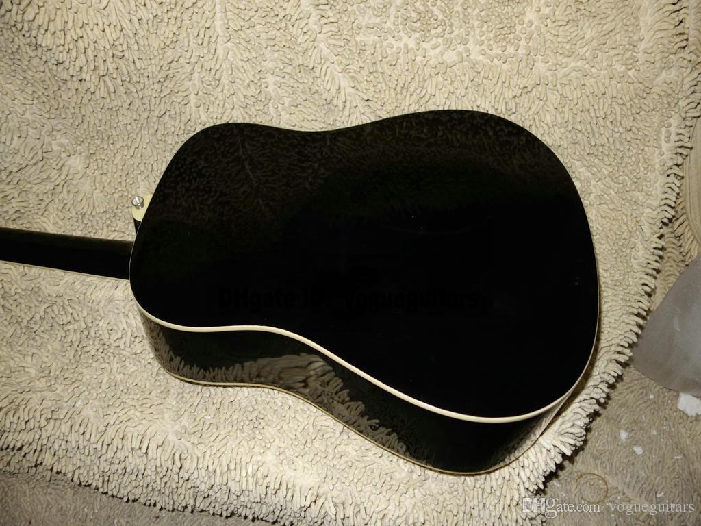 China factory new Custom Acoustic Electric Guitar black Guitar