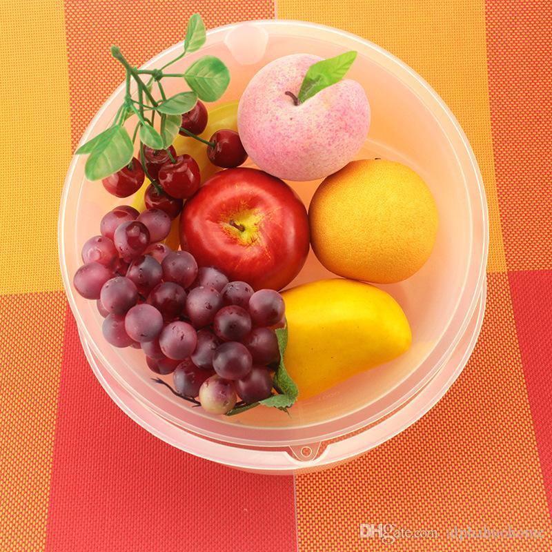 Vegetable Fruit Bowls Food Grade Plastic Bowl Dish Salad Bowls Household Kitchen Tableware