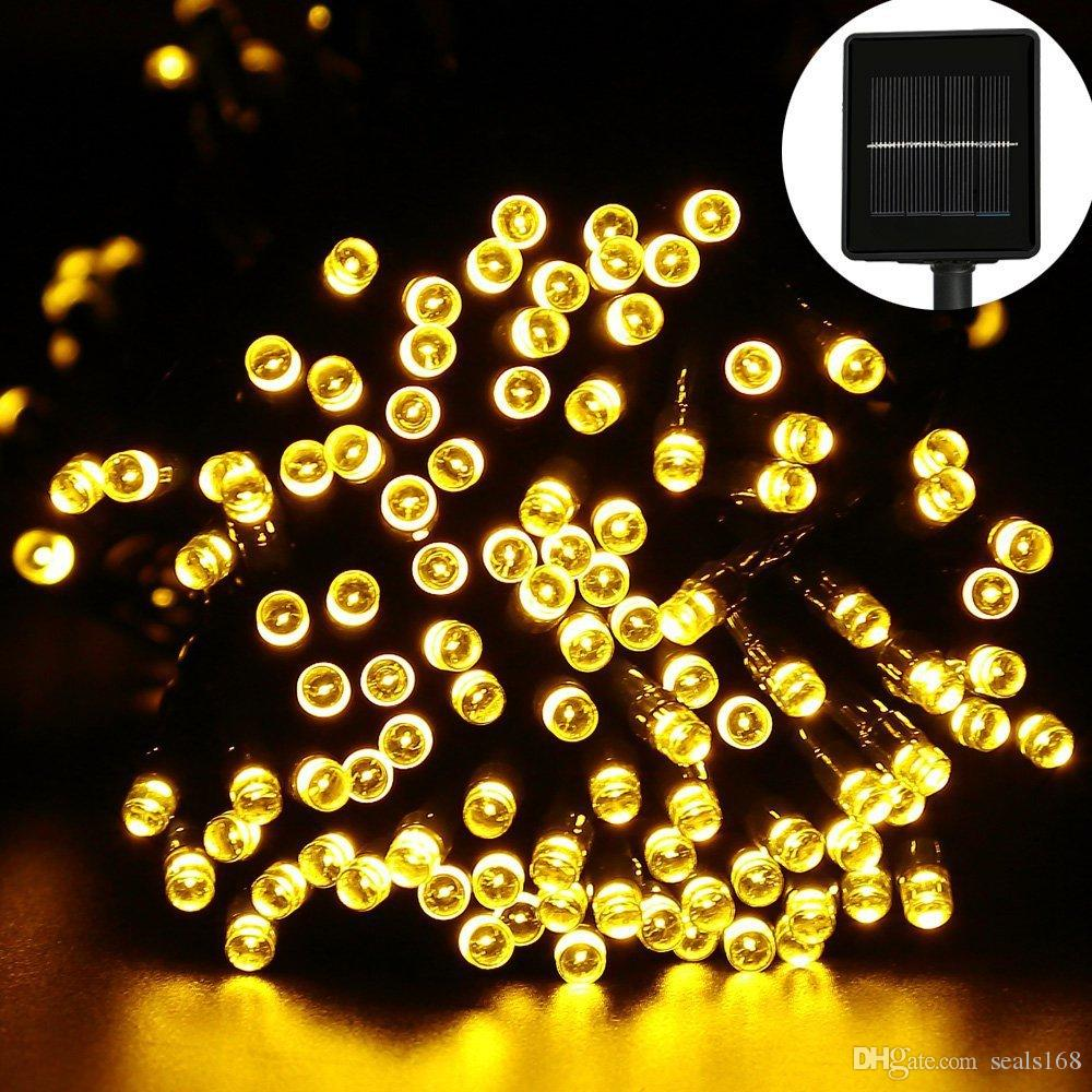 Solar String Lights 12M 100LED Christmas Decorations Lights Patio Lawn Garden Wedding Holiday Party Xmas Tree Lights USB Charge HH7-04