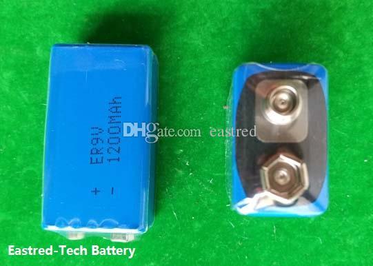 ER9V lithium battery 1200mAh ER 9V for smoke detectors alarm